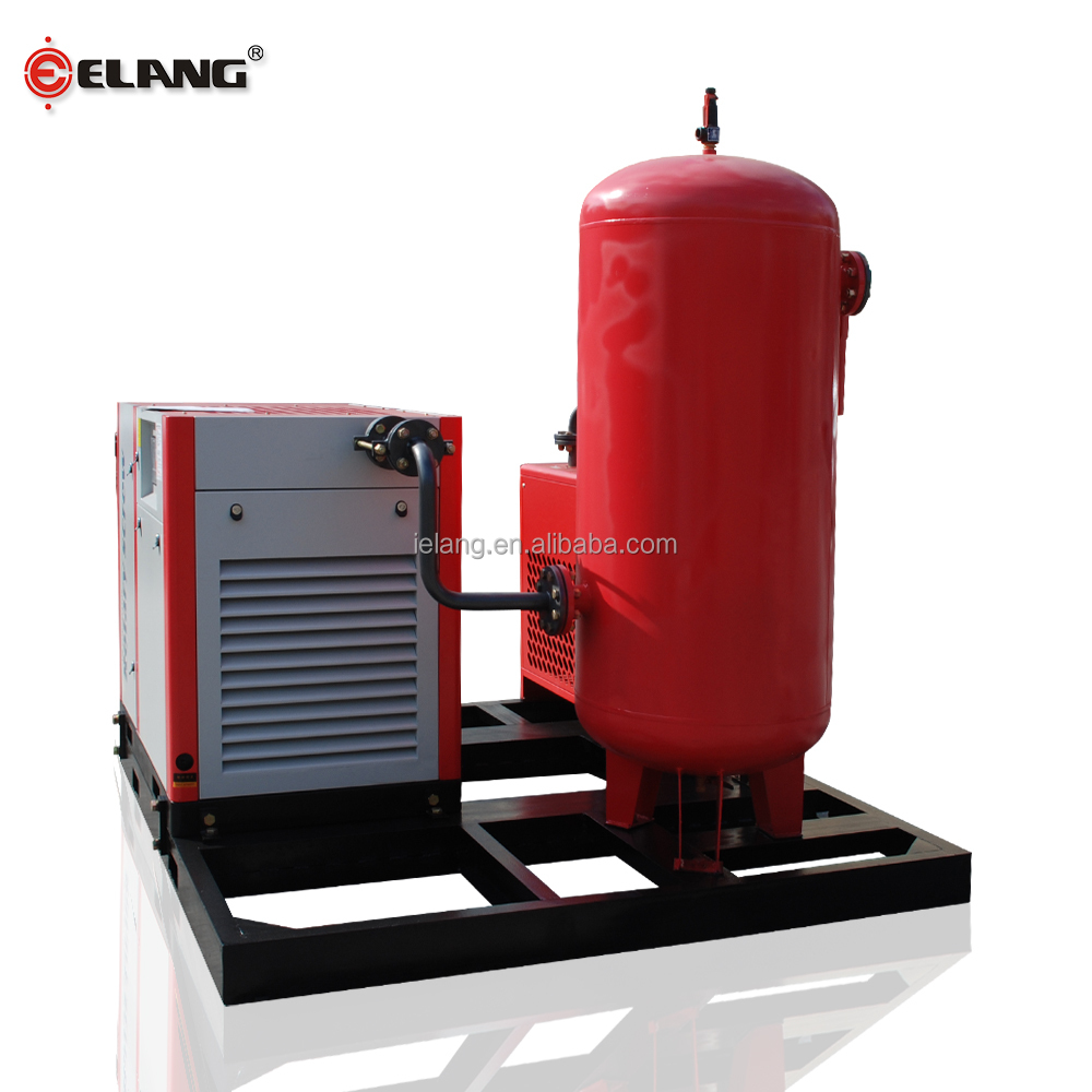 15kw 20hp industrial screw air compressor with air dryer and air tank
