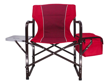 Tianye Aluminium Outdoor Camping Sport Picnic Fishing Director Chair With Side Table Cooler Bag