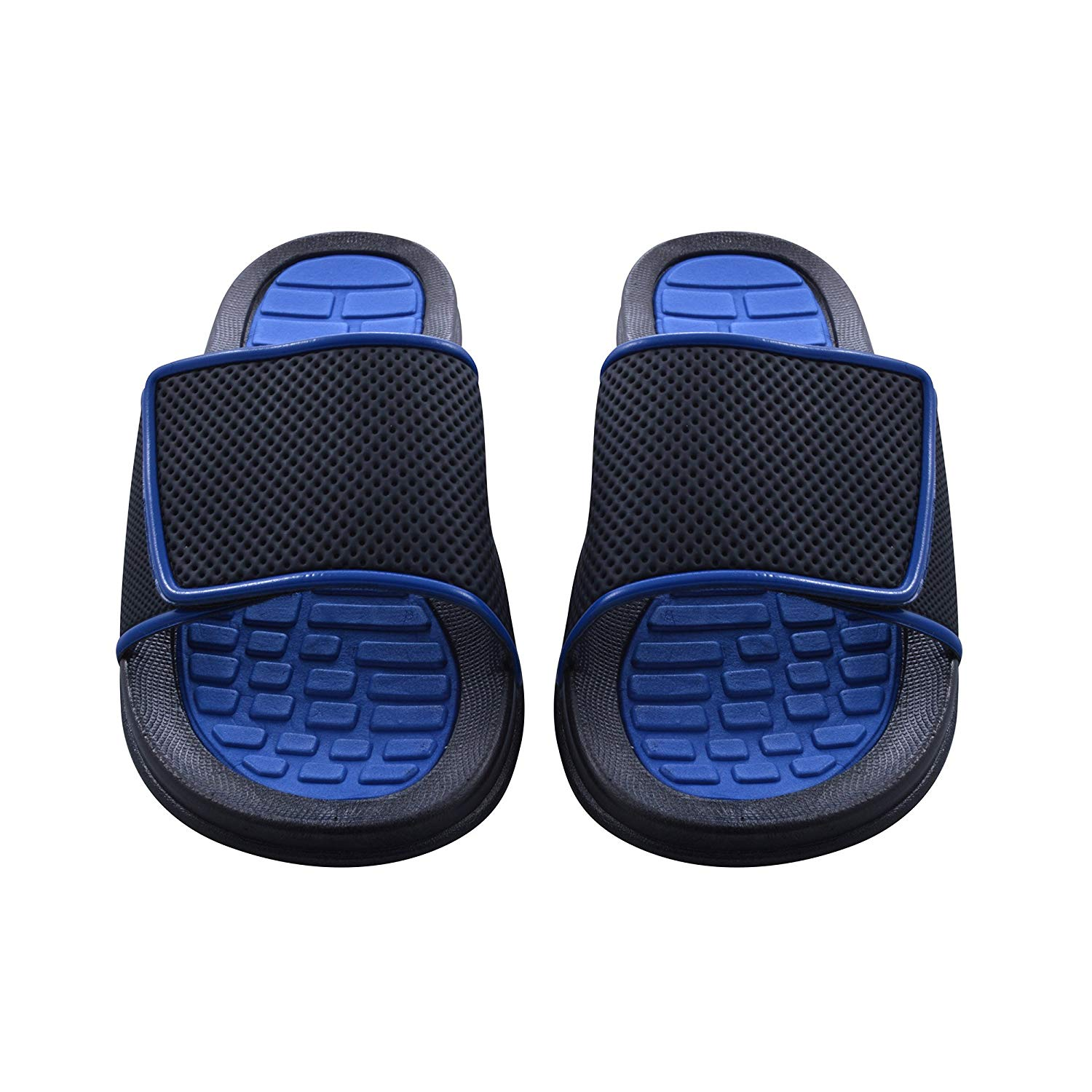 0241b83b633a Get Quotations · Sky Sole Mens Slide Sandals with Adjustable Strap