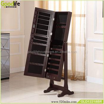 Muebles de dormitorio de madera maquillaje organizador de for Gabinete de almacenamiento para el dormitorio