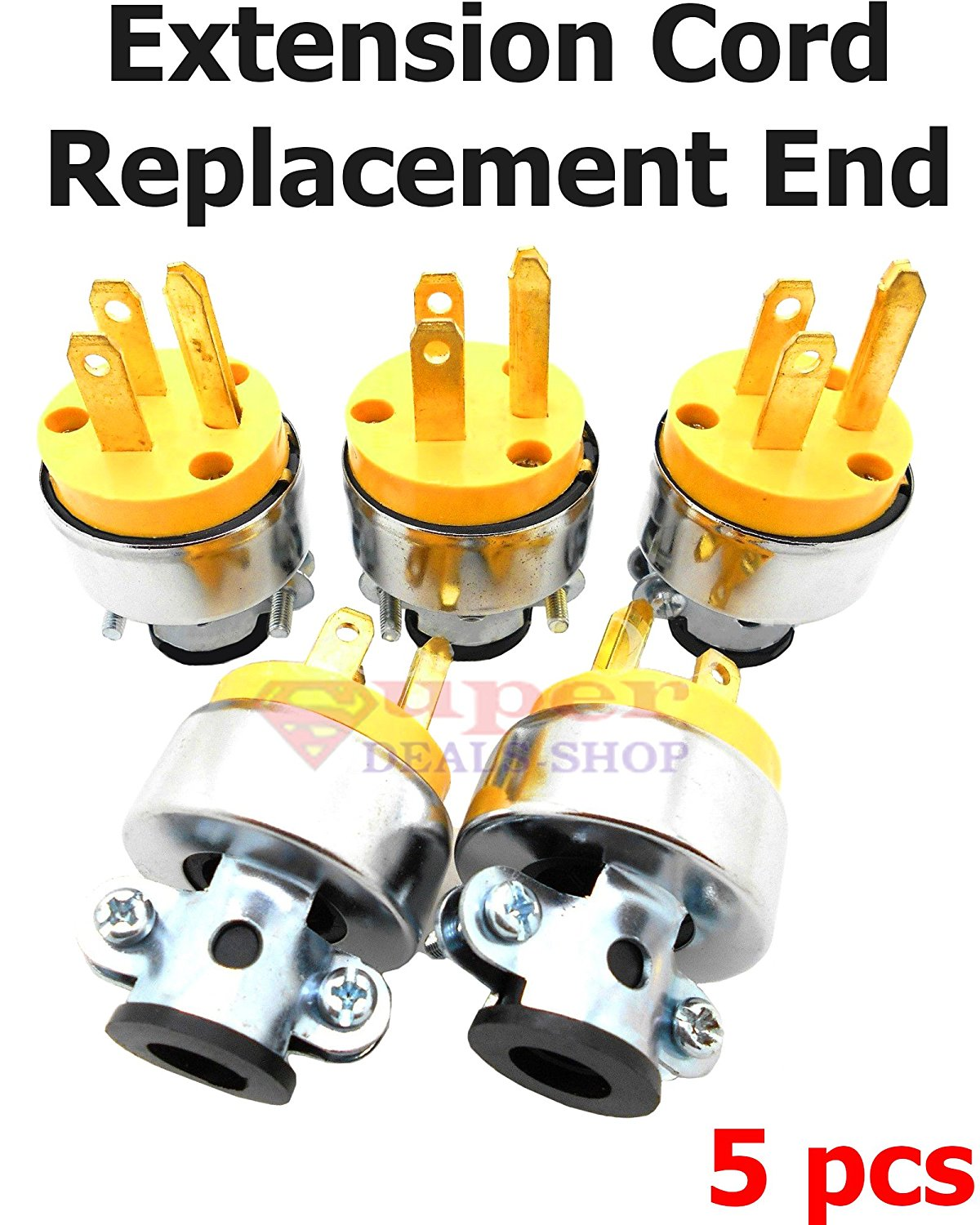 Cheap Electrical Cord Plug Replacement Find Wiring A Get Quotations 5 Pieces Male Extension End Wire Repair