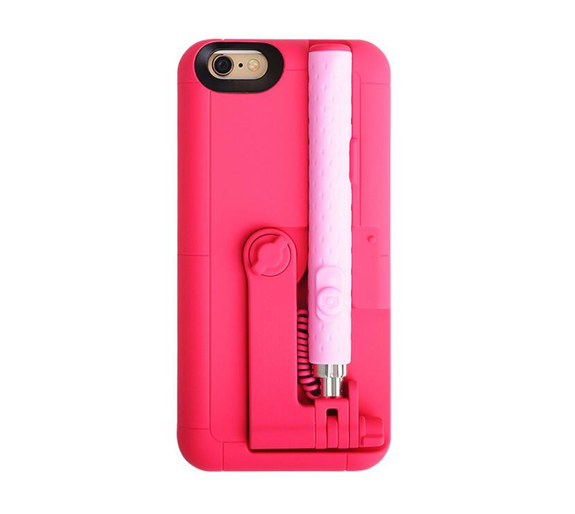 2016 Best Design Monopod Mobile Back Cover with Selfie Stick Cases for iPhone 6s for iPhone 6s plus