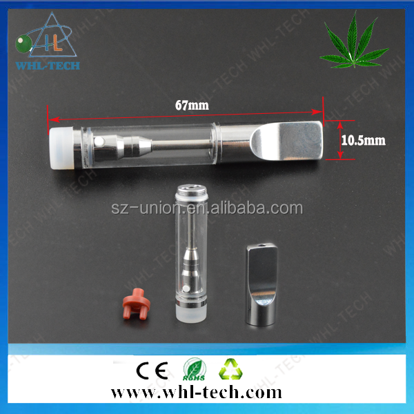 Big smoke cbd oil vape cartridge disposable glass tank e cig 510 ceramic coil wickless vape pen co2 oil glass 510
