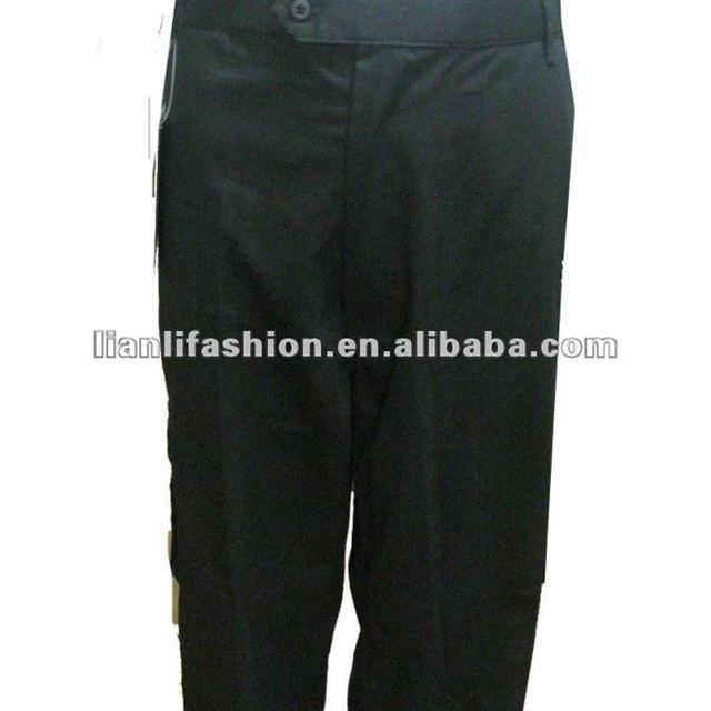 mens black cotton baggy pants