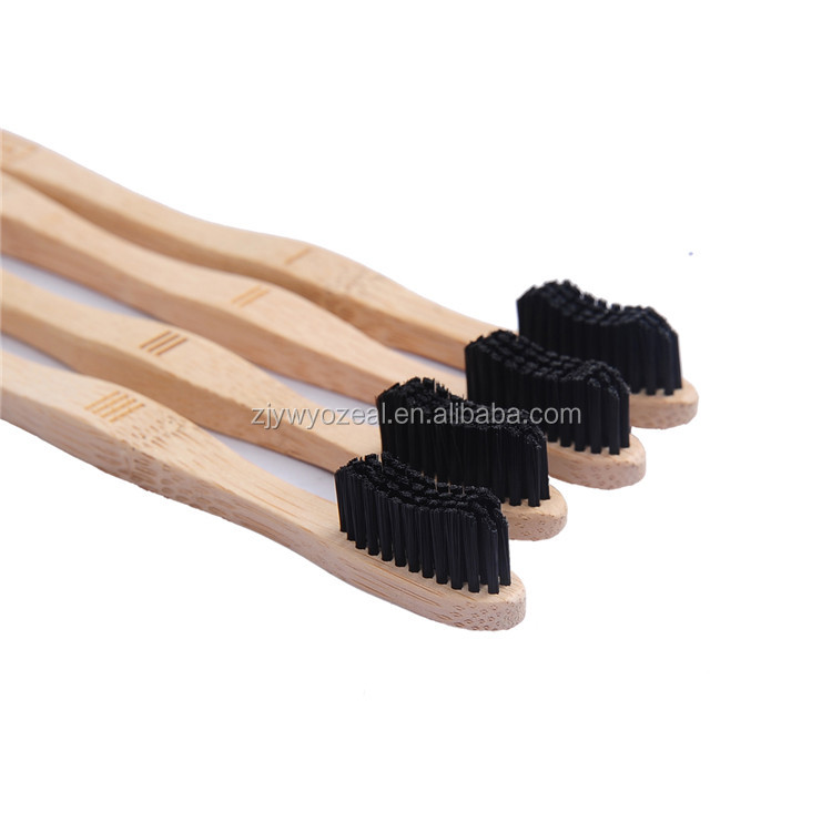 Wholesale cheap professional made harmless eco-friendly tooth cleaning square bamboo toothbrush