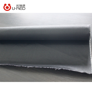 100% Glass Fiber Waterproof Good Stretch PU Coated Black Fiberglass Fabrics