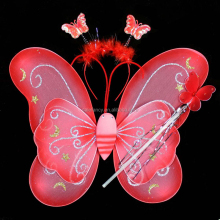 Popular plastic butterfly angel wings QFW-0046