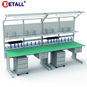 Detall ESD conveyor assembly working tables line for workshop