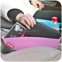 Catch Catcher Box Caddy Car Seat Slit Gap Pocket Storage Glove Box Organizer Slot Box Leather For Books/Phones/Cards