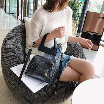 Laser Transparent Handbag Woman Vifrification Portable Shoulder Bag