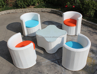 Hotel swimming pool sofa dining set outdoor furniture set