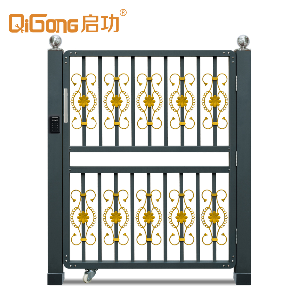 Custom Size Aluminum Metal Entry Door Gate for Villa and home QG-C1703