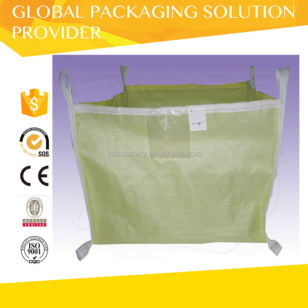 Virgin PP supper sacks,FIBCS,PP bulk bag color printing with white belts 1000kg