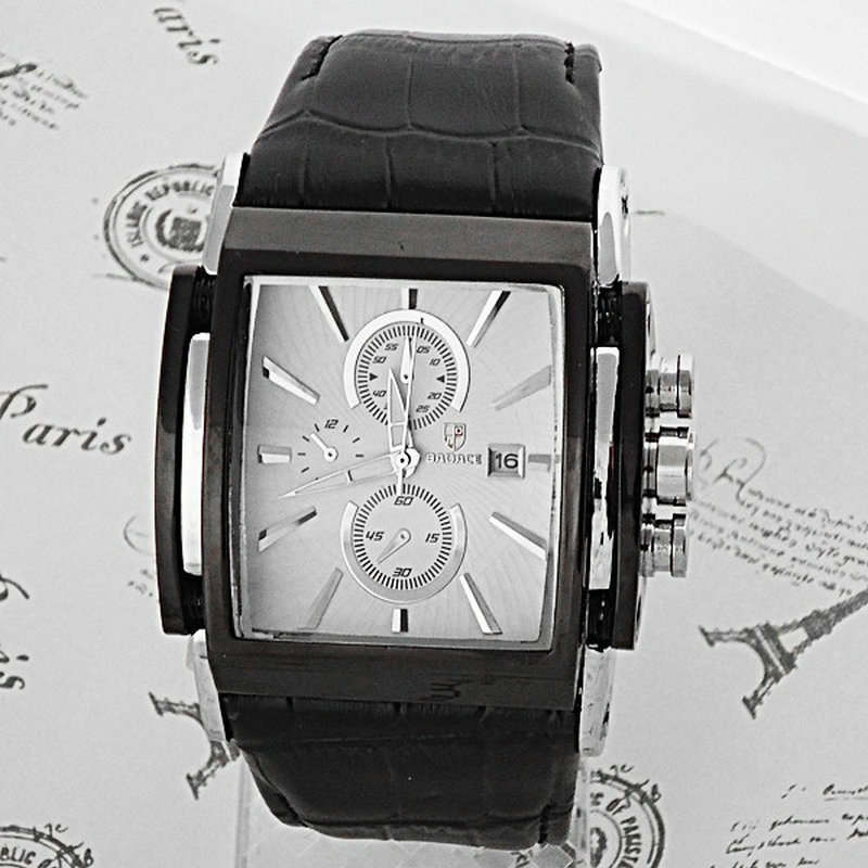 Качество Badace люксовый бренд кварцевые часы мужская отображения даты площади набора кожаный ремешок наручные часы Relogio Masculino