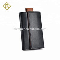 RFID Blocking Trifold Wallet Genuine Leather Credit Card Holder magic slim front pocket mens wallet