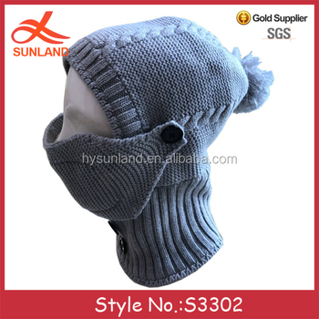 S3302 new 2018 knit ski face mask beanie hats crochet knitted winter masks c6af26e329d