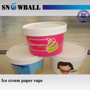 Custom Ice Cream Tubs Gelato Cups Paper Bowls Disposable Food Container