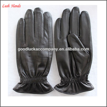 Black Stylish Mens Leather Dress Gloves For Driving Buy Mens