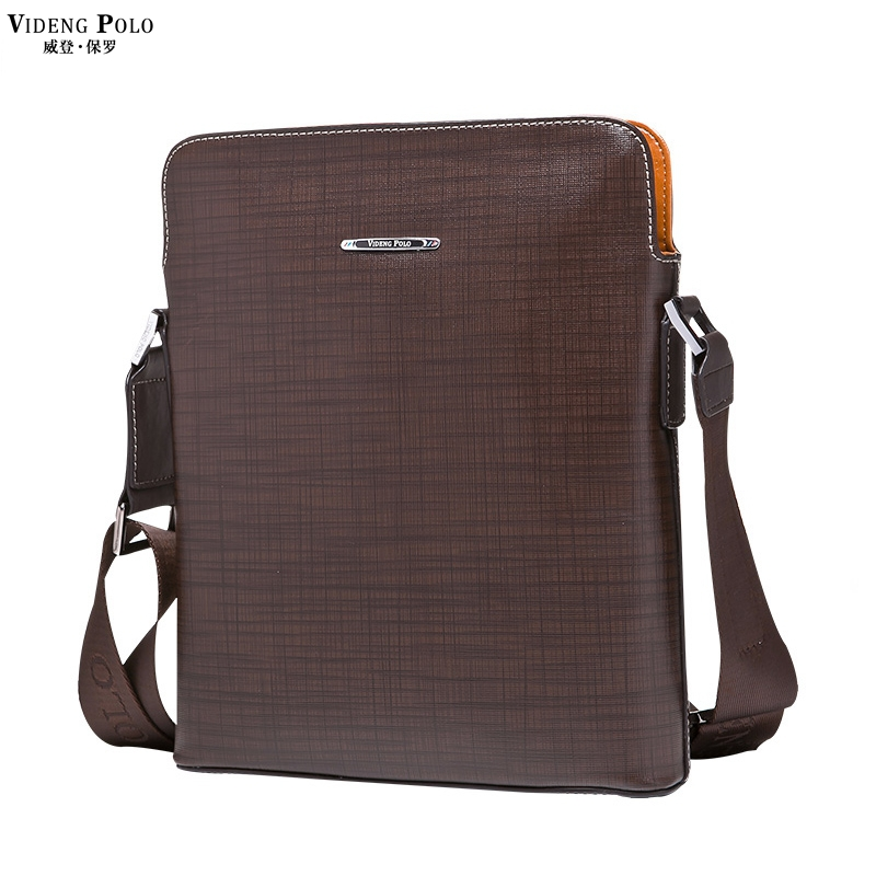 86f342fadab6 Get Quotations · VIDENG POLO Trendy Panelled Element Genuine Leather Mens Messenger  Bags