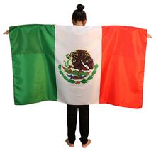 New coming trendy style green white red stripe foldable with neck belt mexico body flags