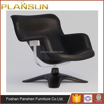 Scandinavian Design Kukkapuro Style Karuselli Swiveling Chair With Ottoman