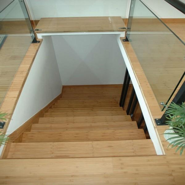 Suelo de bamb accesorios de instalaci n bamb escaleras - Escalera de bambu ...