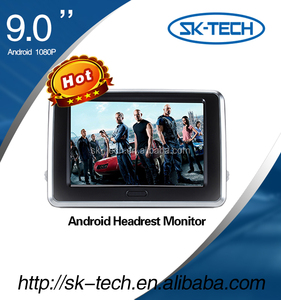 9 inch car entertainment system car taxi headrest monitor with touchscreen monitor