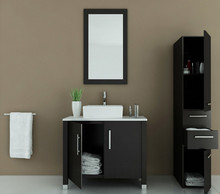 Moderno 36 pollice vanity cabinet in <span class=keywords><strong>crema</strong></span>