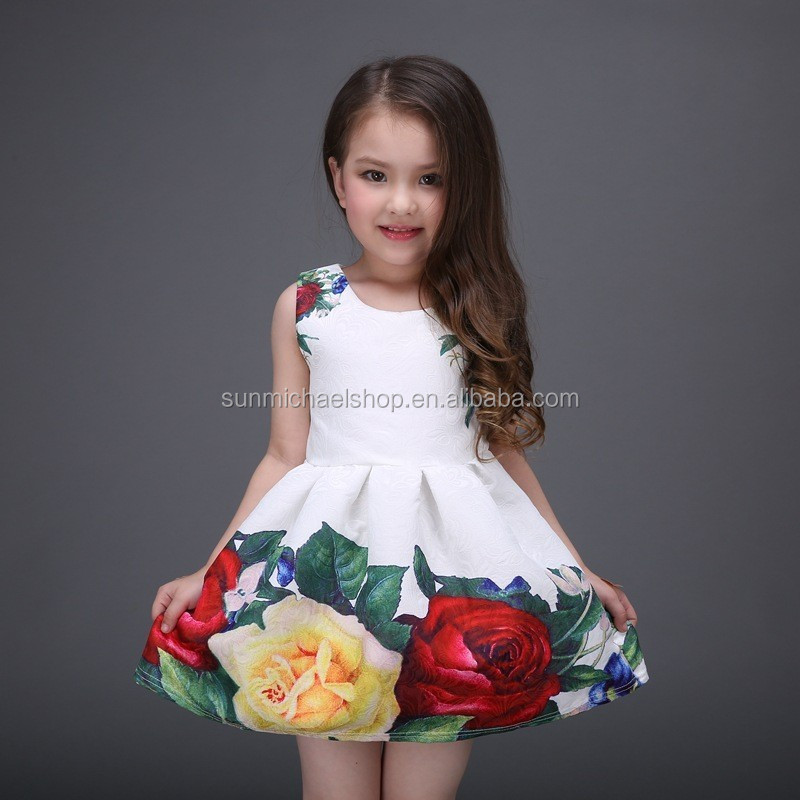 Wholesale spring new style girls dresses kids children clothing baby girl dress