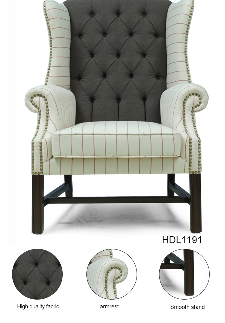 Living Room Furniture Fabric Cover Hotel Single Sofa Chair