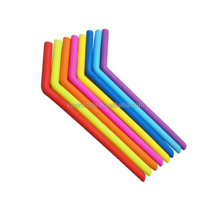 Amazon Flexible Silicone 25cm Long Reusable Drinking Straws,Cool Heat Resistant Custom Printed Silicone Rubber Drinking Straws
