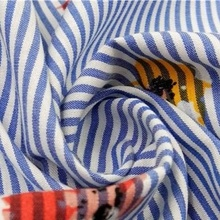 2018 popular hot 100% cotton printed stripe shirt dyed fabric