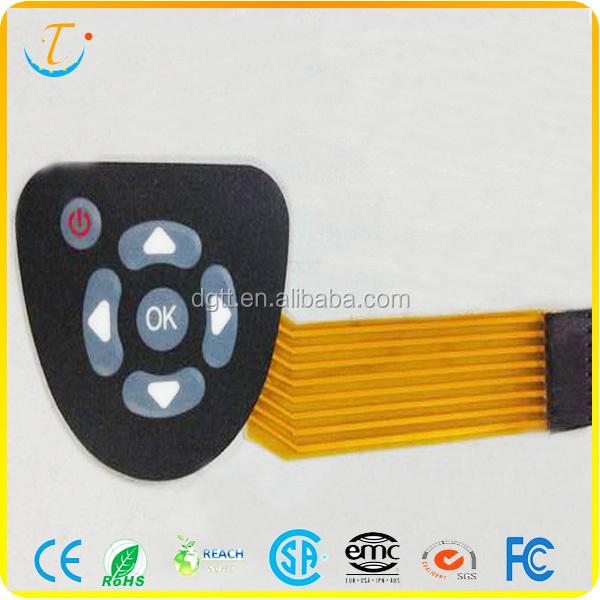 Fpc Circuit Push Button Membrane Switch Keypad For Remote Control - Buy  Membrane Switch,Membrane Switch Keypad For Remote Control,Fpc Circuit Push