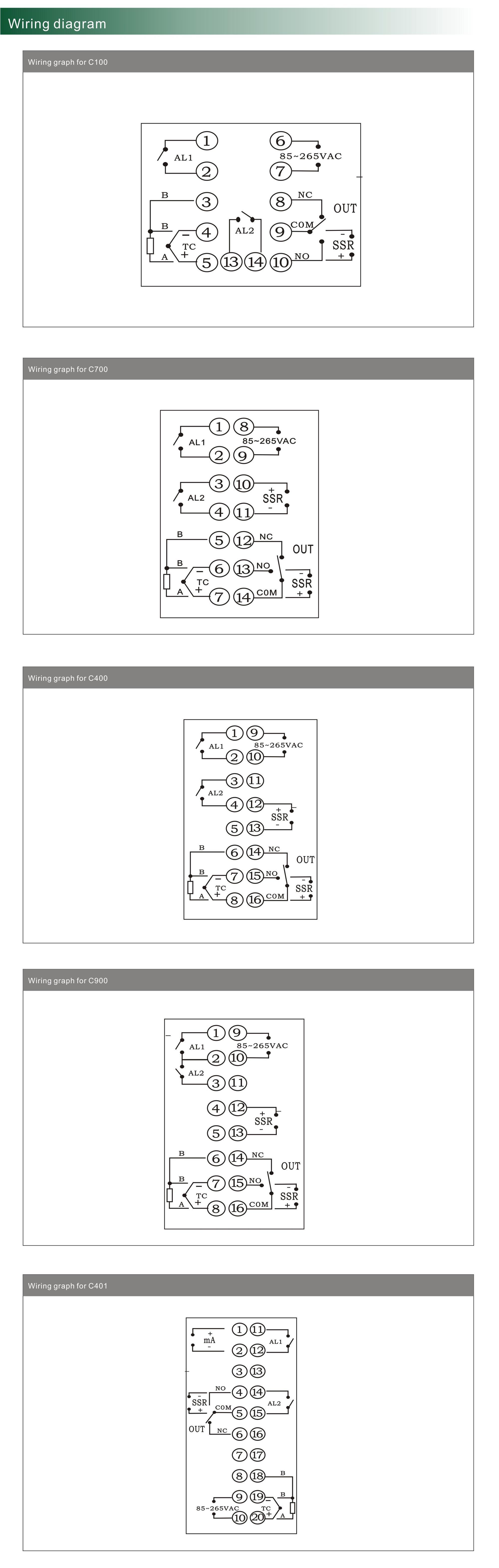 C400 Rex Thermostat Housing Display 0 10v Kiln Boiler Device Wiring Diagram