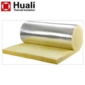 Aluminum foil backed fiberglass wool insulation price glasswool blanket thermal insulation material