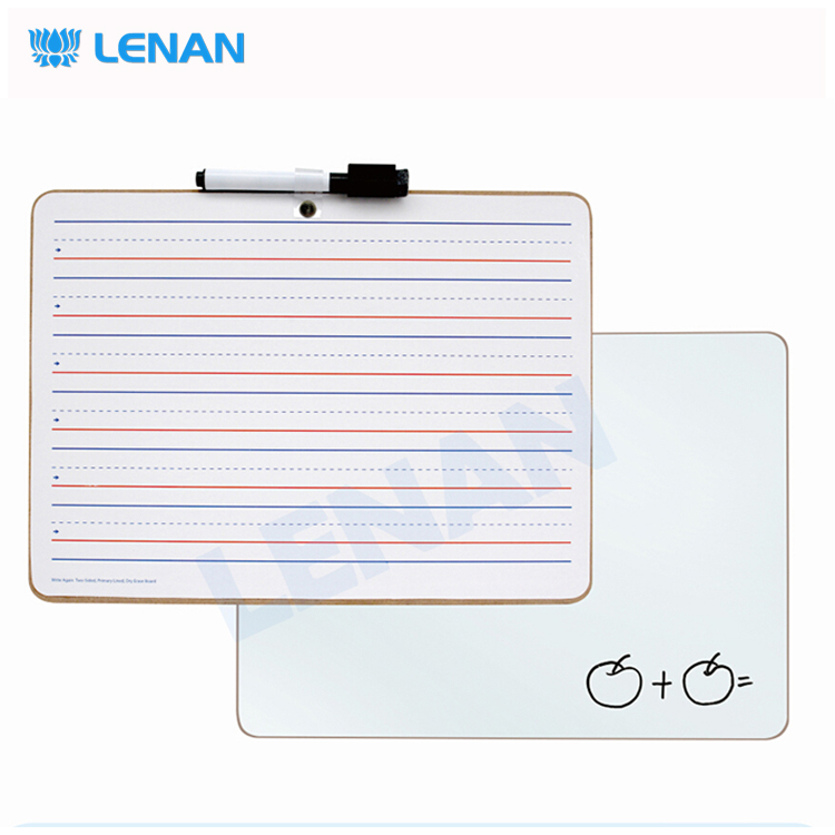 Customized cheap student kids double sided no frame mini dry erase white board / lapboard with 9 x 12 inches standard size