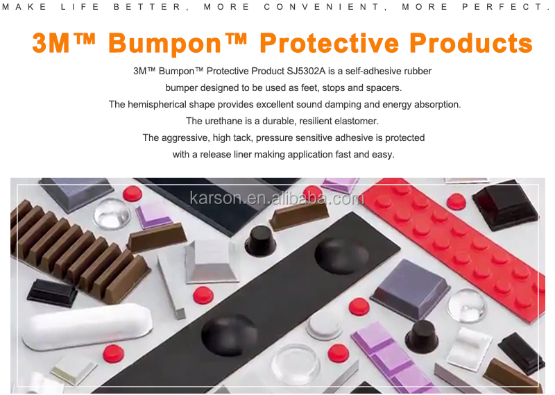 3M Bumpon Protective Products Blister Pack Sj5302 Clear Adhesive Silicone Rubber Foot Pads