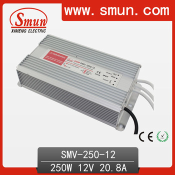 250W CE and RoHS Led Driver 12V Ddimmable(SMV-250-12)