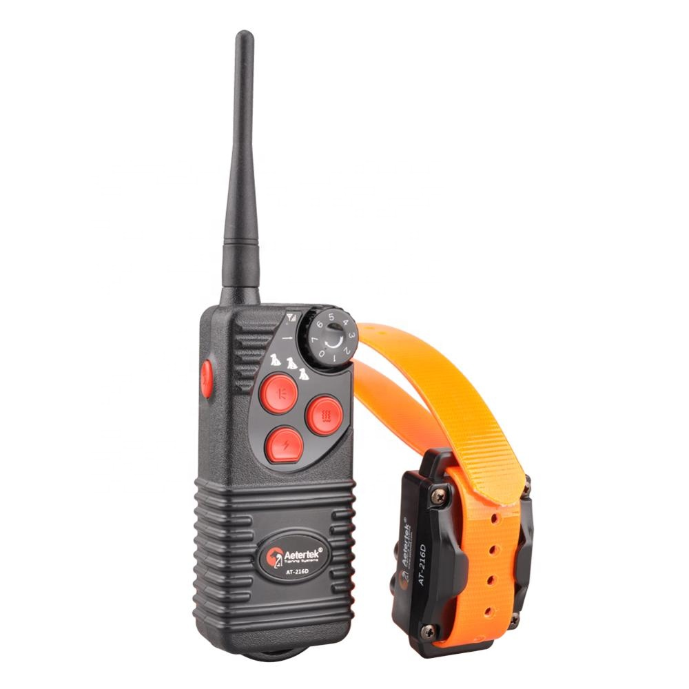 Aetertek AT-216D dog trainer remoto anti latido parar Beep som elétrico E dog training Collar choque vibração ultra-sônica obediente