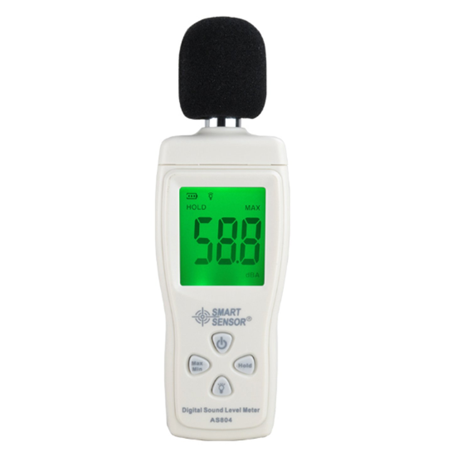 Digital sound level meter Measure 30-130dB Noise dB Decibel meter Monitoring Testers Metro Diagnostic-tool Smart Sensor AS804