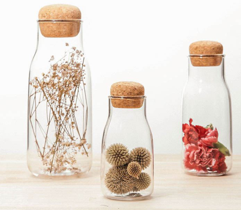 Alibaba.com / Borosilicate Glass Storage Jar Kitchen Food Containers glass jar with Bamboo Lid