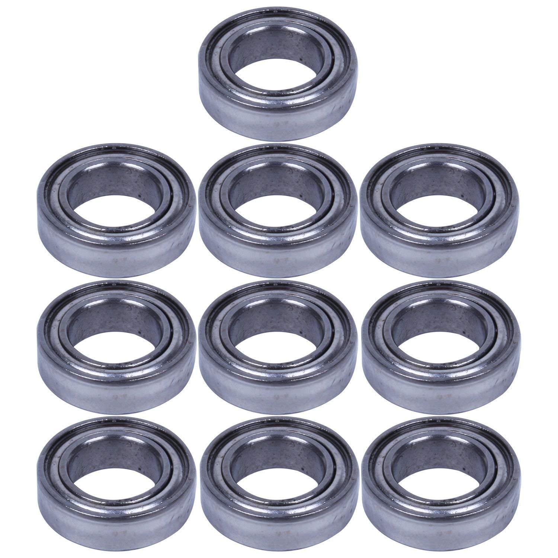 SODIAL(R) 10pcs Miniature Rubber Sealed Metal Shielded Metric Radial Ball Bearing MR148-ZZ 8X 14 X 4Mm