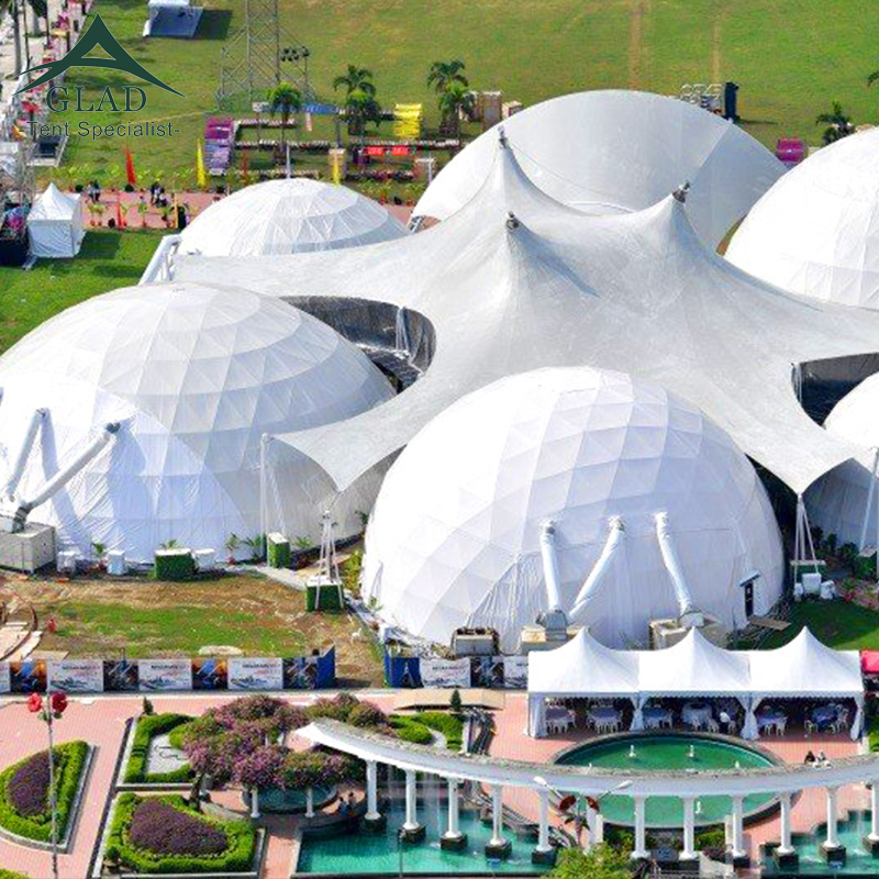 Big 30M Diameter White Commercial Event Geodesic Dome Circus Party <strong>Tent</strong> For Sale
