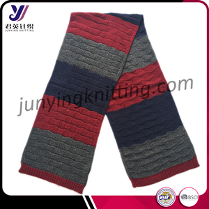 Multicolor Jacquard classic style winter knitted pashmina scarf manufacturer (can be customized)