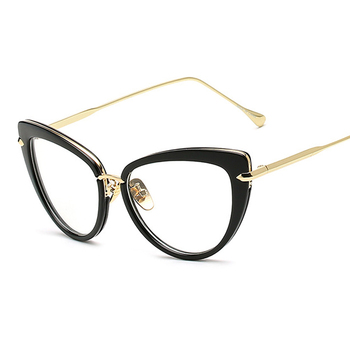 Fashion New Women Eyeglasses Frame Classic Brand Designer Luxury Cat ...