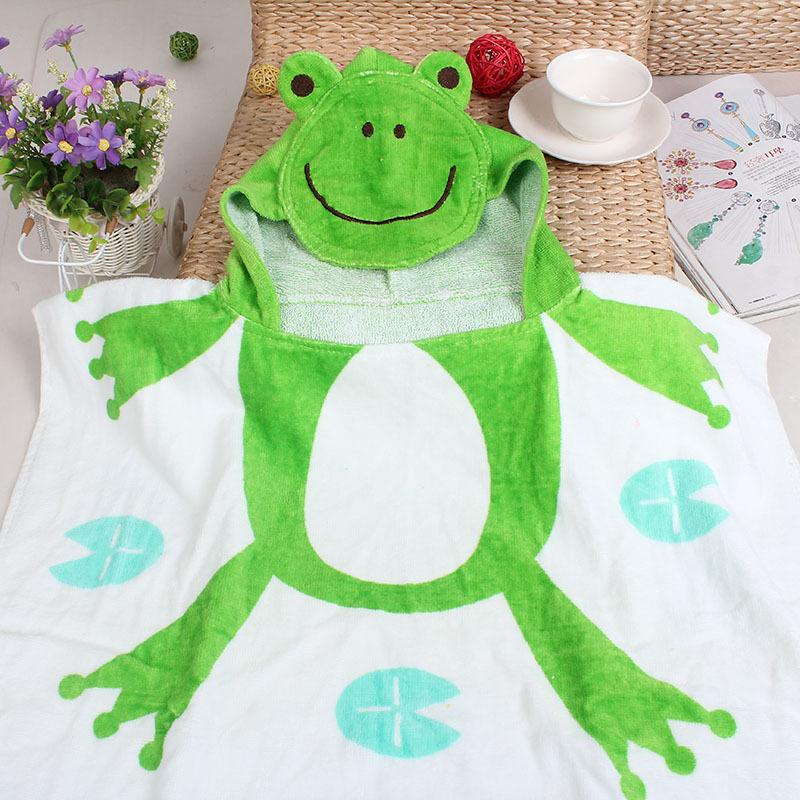 Розничная 4 капюшоном животных моделирование халат мультфильм ребенка персонаж дети банный халат детские банные полотенца 4001