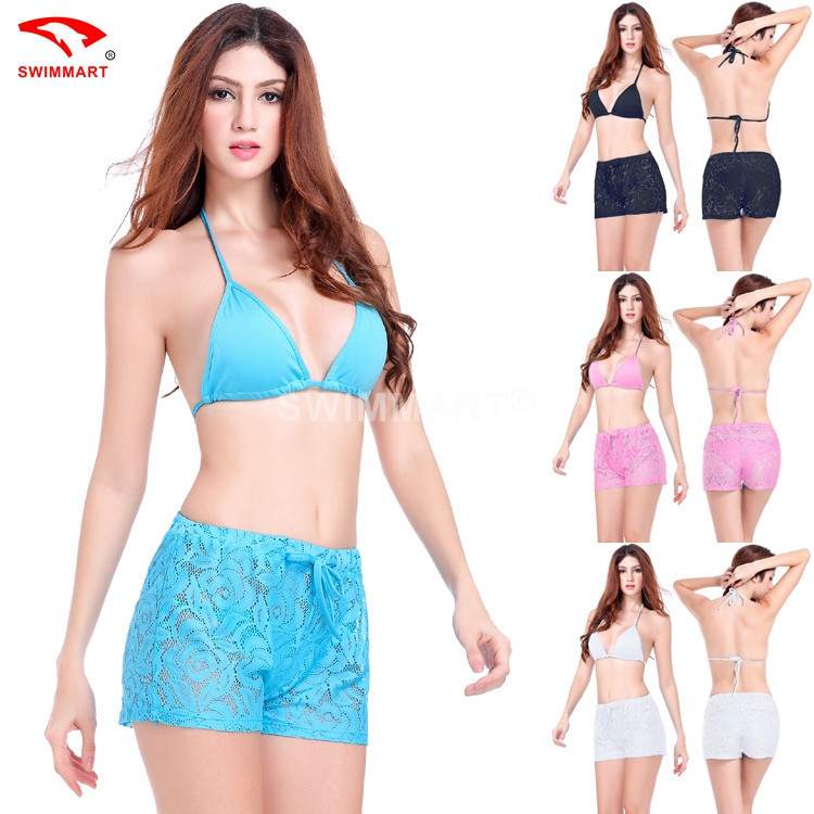 bbd7a91e46 Get Quotations · Wholesale Retail 2015 New Arrival Women Hollow Out Sexy Lace  Swim Pants Hot Summer Swimwear Beach