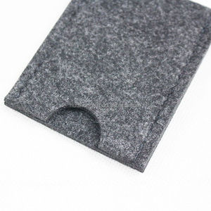 China made storage felt business card holder with customized logo