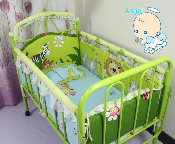 Promotion 10PCS Newborn Baby Bedding Sets Baby Crib Set Cribs With Sheet And Bumpers bumpers matress