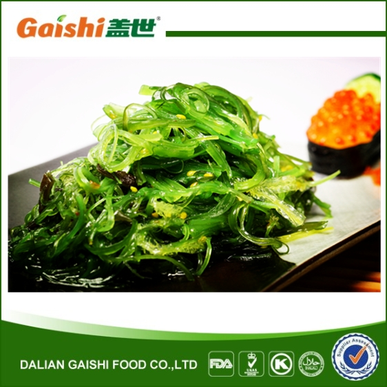 Japanese traditional and fresh wakame frozen seasoned salad